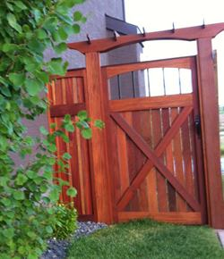 Dark-Red-Meranti-Fencing-Gate