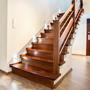 Hardwood Stairs and Bannister